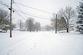 Snowy road in article text