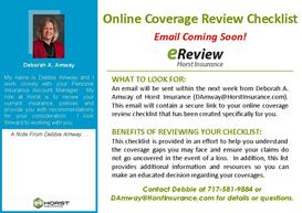 Online Coverage Review Checklist