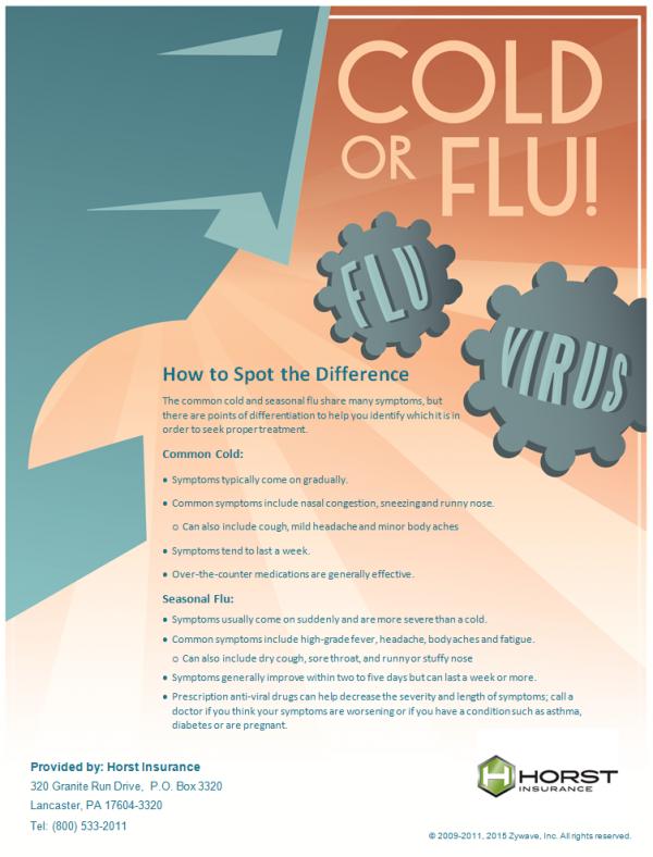 Cold or Flu Poster | - Horst Insurance– Horst Insurance