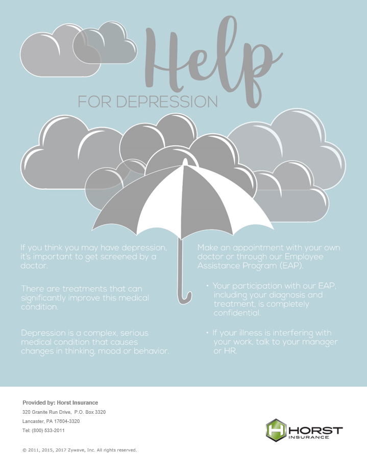 insurance, horst insurance, depression, employee assistance, EAP, depression poster, HR