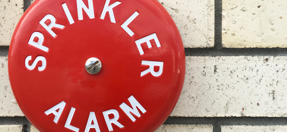 Red Fire Sprinkler Alarm