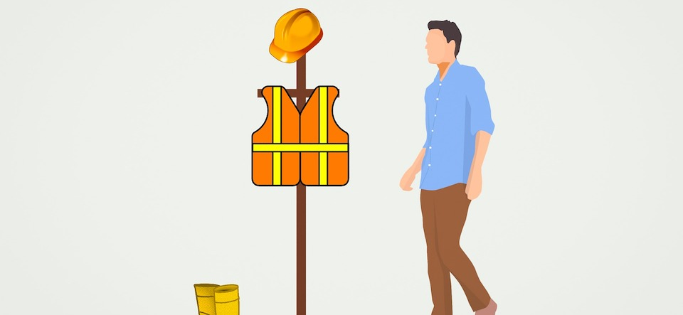 graphic of a man and safety clothing