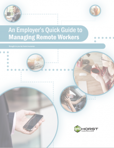 Cover of the document titled An Employer's Quick Guide to Managing Remote Workers