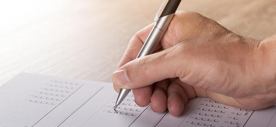 Handwriting paperwork