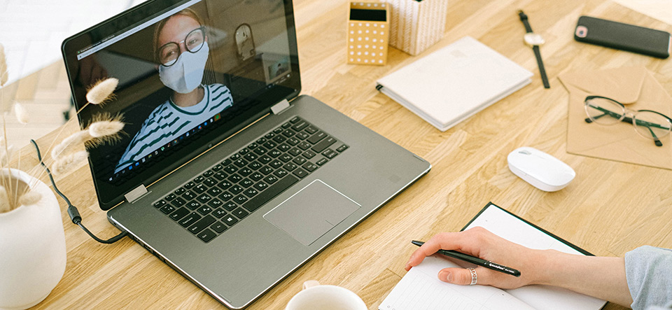 Remote worker video conferencing with onsite worker