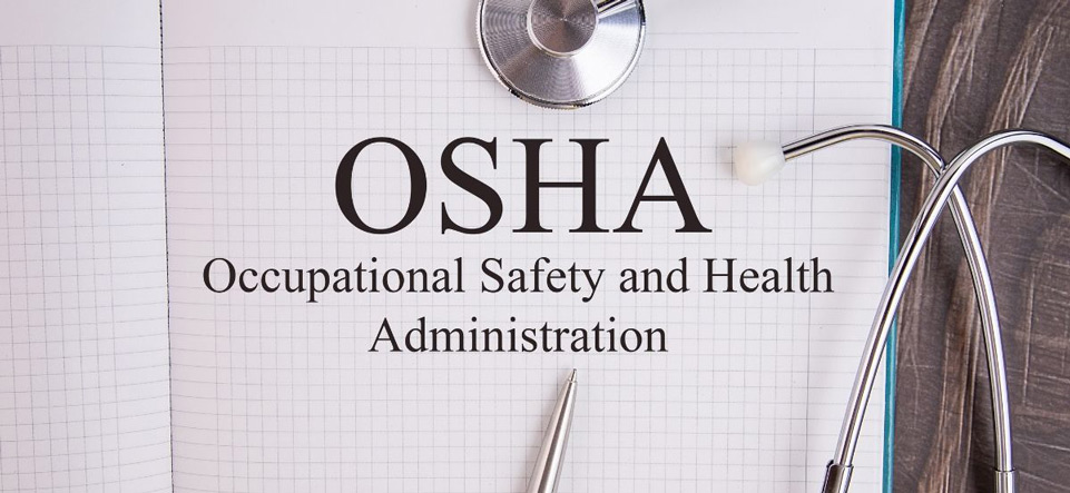 Document that says OSHA Occupational Safety and Health Administration
