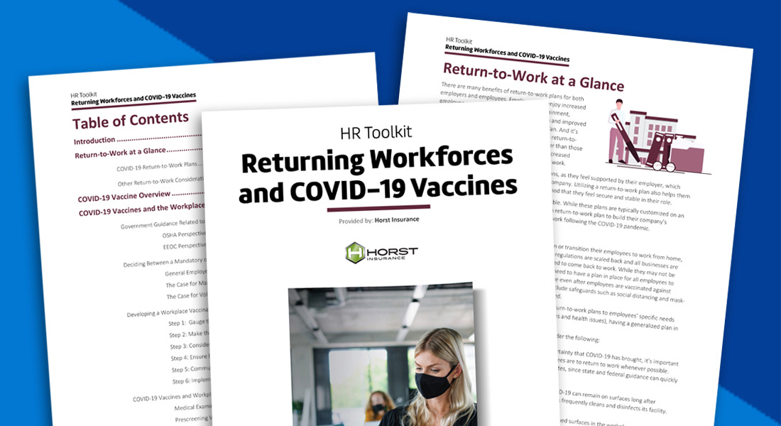 Returning Workforces and COVID-19 Vaccines sample pages