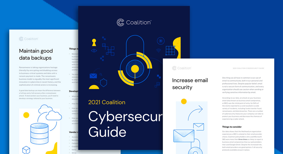 2021 Coalition Cybersecurity Guide cover image