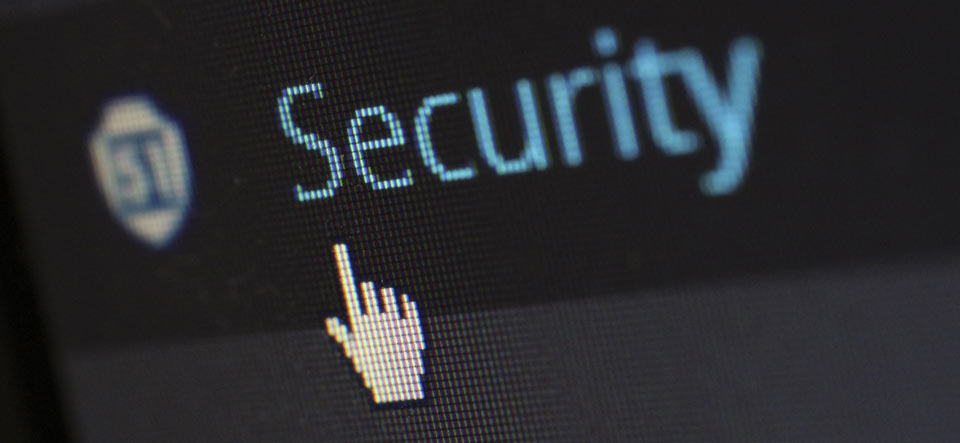 Cursor clicking a Security link on a web page